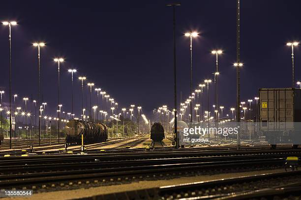 hamburg harbour, freight trains and railways - rail freight stock pictures, royalty-free photos & images