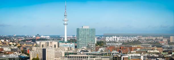 Hamburg Heinrich-Hertz-Turm Tower mit Blick auf Luftaufnahmen Stadtbild Panorama Deutschland