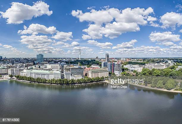 Hamburg Inner Alster Lake HDR Panorama
