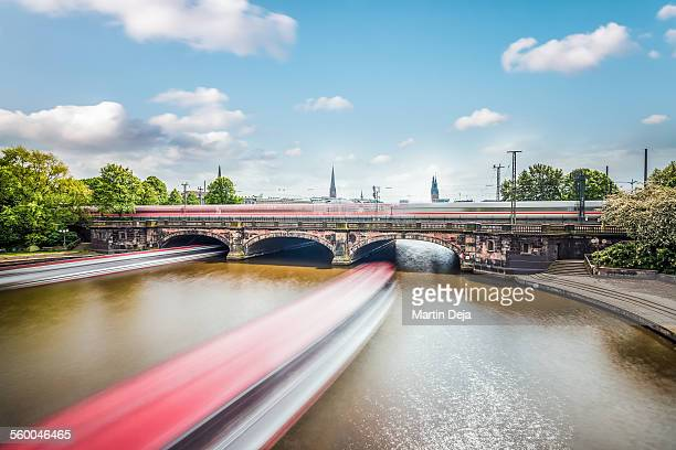 hamburg lombardsbruecke - hamburg germany stock pictures, royalty-free photos & images