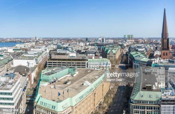 Hamburg Mönckebergstraße Aerial View HDR
