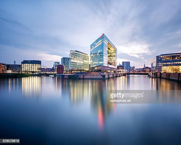 Hamburg, modern office building, Brooktorkai