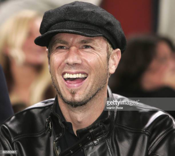 Hamburg player Sergej Barbarez is seen in the stands during the UEFA Cup match between Hamburger SV and FC Kopenhagen at the AOL Arena on September...