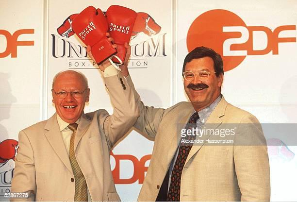 FERNSEHRECHTE FUER UNIVERSUM KAEMPFE gehen ab 2002 an das ZDF Klaus Peter KOHL/UNIVERSUM BOXPROMOTION Nikolaus BENDER/ZDF CHEFREDAKTEUR