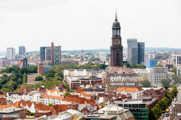 Hamburg skyline with old and new architecture, Germany