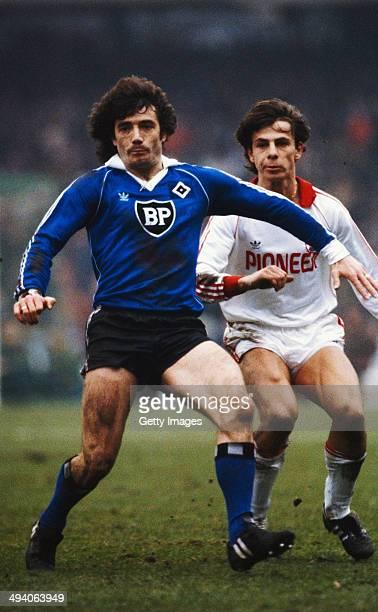 Hamburg SV player Kevin Keegan in action during a Bundesliga match circa 1979 in Hamburg Germany