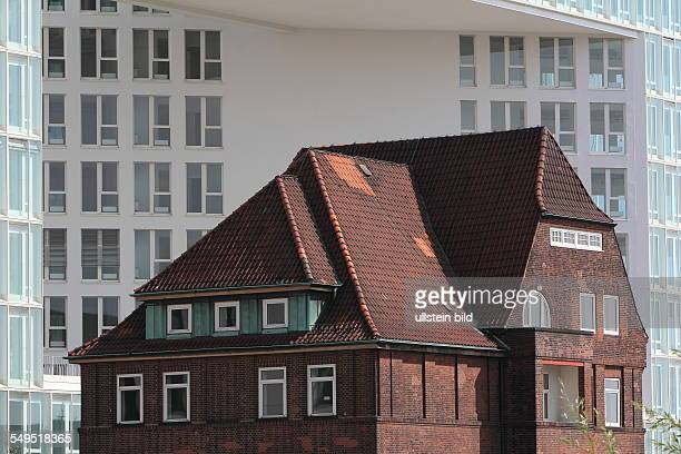 Hamburg: the new Spiegel newspaper building and the Ericus Contor at the Ericusspitze in the Hafencity district