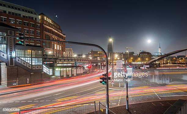 Hamburg traffic at night