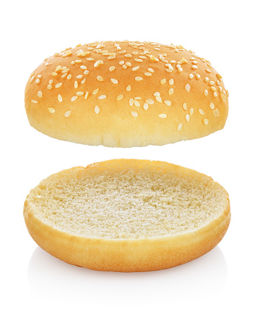 Hamburger bun isolated 981350306