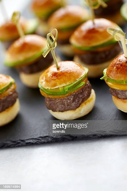 Hamburger canapes