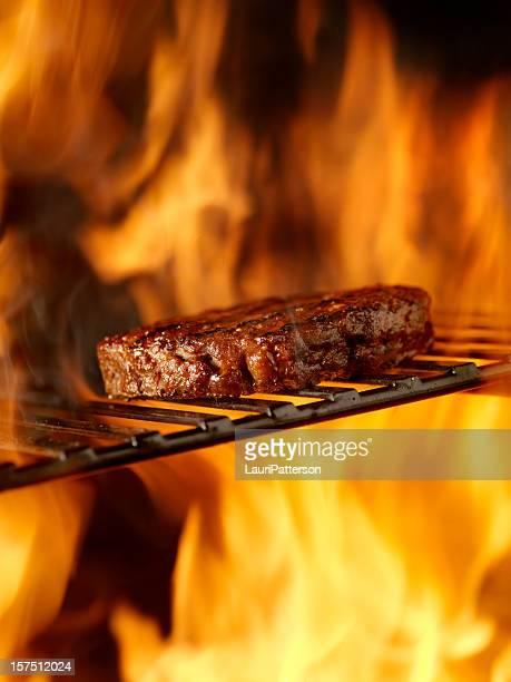 BBQ Hamburger on the Grill