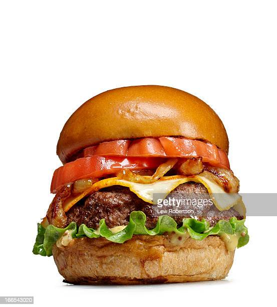 hamburger on white - hamburger stock pictures, royalty-free photos & images