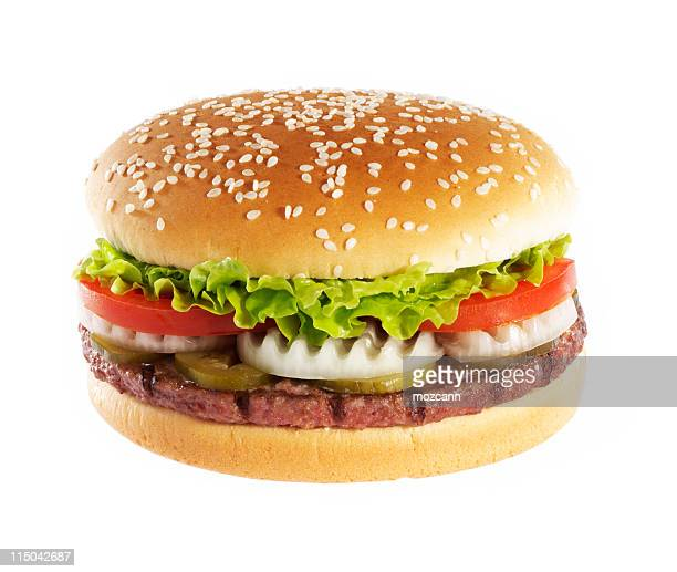 Hamburger over white background