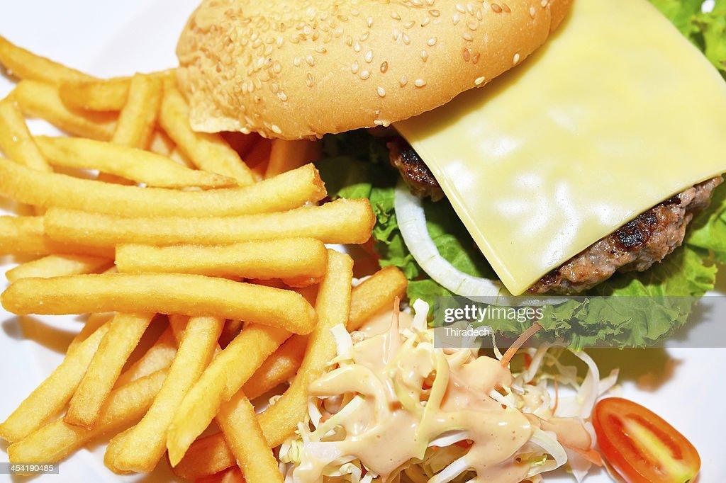 Hamburger-Schnellgericht : Stock-Foto