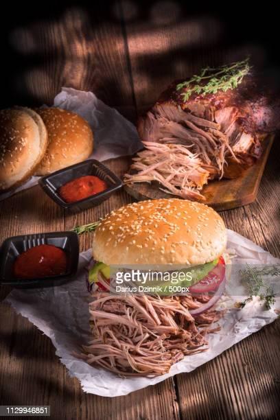 hamburger pulled pork - sloppy joe, jr bildbanksfoton och bilder