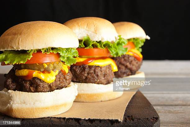 Hamburger Sliders in a Row