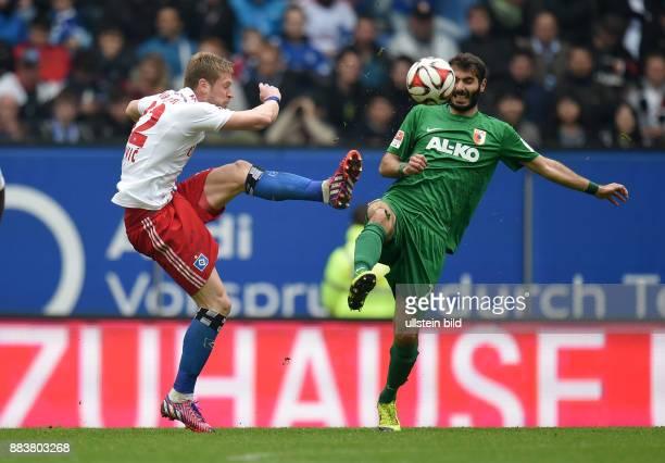 FUSSBALL 1 BUNDESLIGA SAISON Hamburger SV FC Augsburg Slobodan Rajkovic gegen Halil Altintop