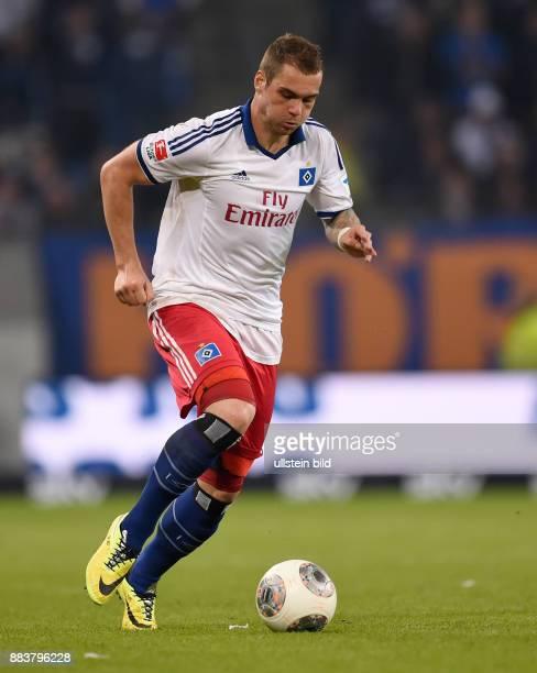 FUSSBALL BUNDESLIGA Hamburger SV Greuther Fuerth PierreMichel Lasogga am Ball
