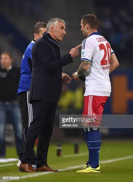 FUSSBALL BUNDESLIGA Hamburger SV Greuther Fuerth Trainer Mirko Slomka und PierreMichel Lasogga