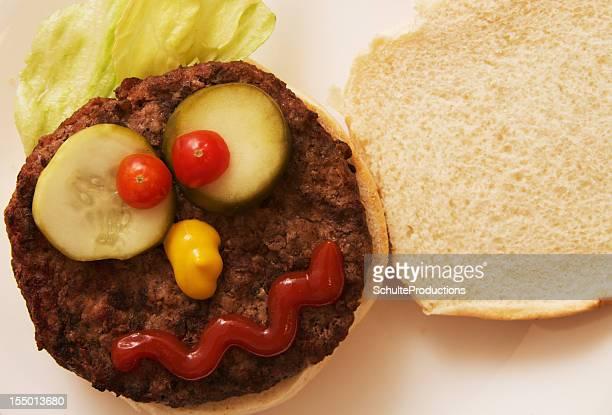 Hamburger with a Funny Face