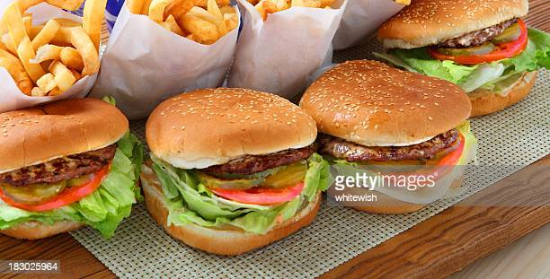 hamburgers - fast food restaurant stock pictures, royalty-free photos & images