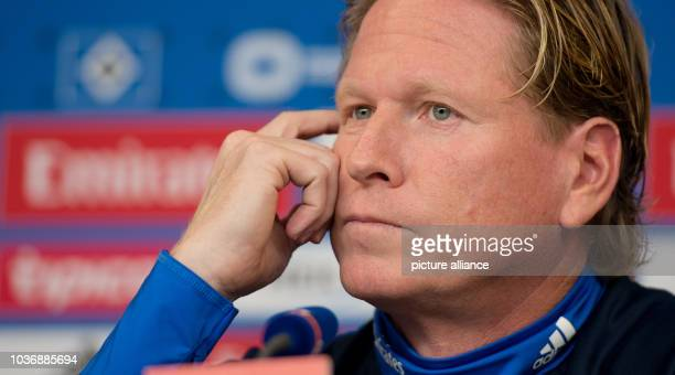 Hamburg's coach Markus Gisdol speaks during a press conference of Hamburger SV on the upgoming away match against TSG 1899 Hoffenheim on Sunday 20...