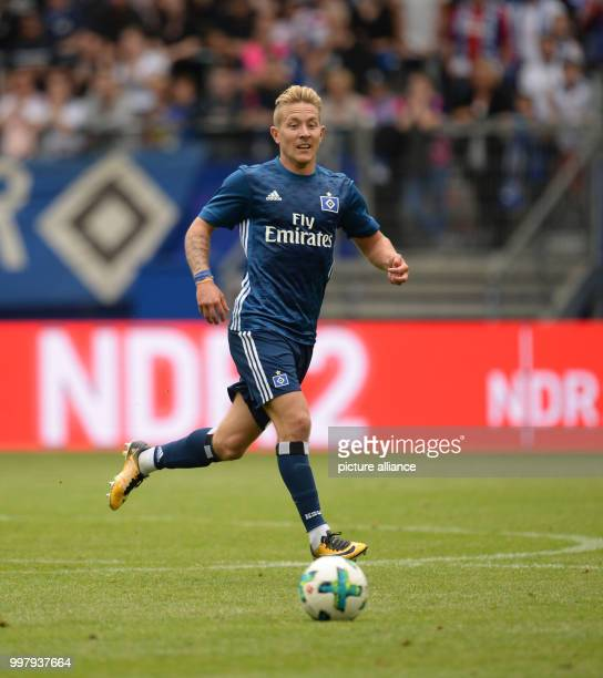 Hamburg's Lewis Holtby in action during the friendly match between Hamburger SV and Espanyol Barcelona in the Volkspark Stadium in Hamburg Germany 06...