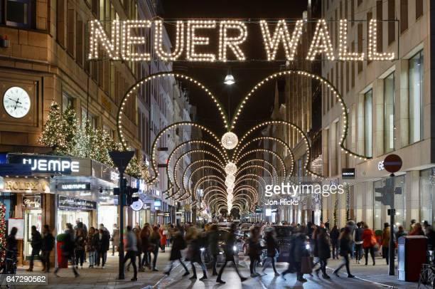 Hamburg's Neuer Wall shopping street at Christmas.