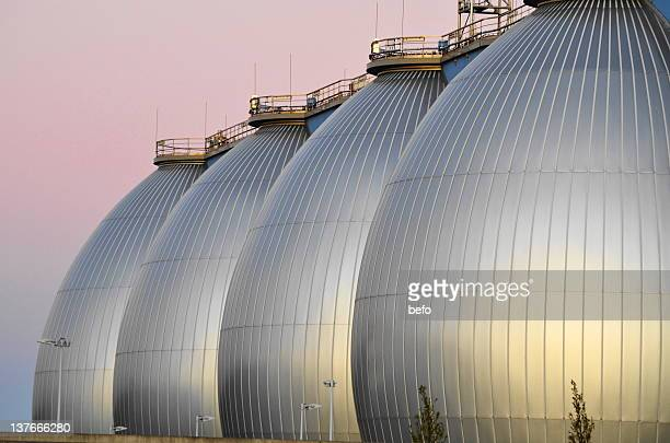 hamburg's sewage treatment plant in port - sewer stock pictures, royalty-free photos & images