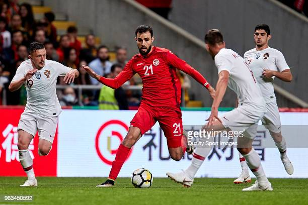 Hamdi Nagguez of Tunisia in action during the friendly match of preparation for FIFA 2018 World Cup between Portugal and Tunisia at the Estadio AXA...