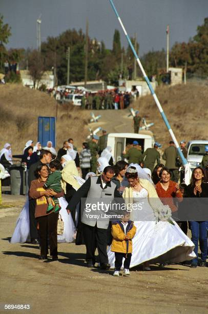 Hamed and Ruida cross the IsraeliSyrian border into the Israeli territory December 16 1999 in the Golan Heights Israel Since the Six Day War in 1967...