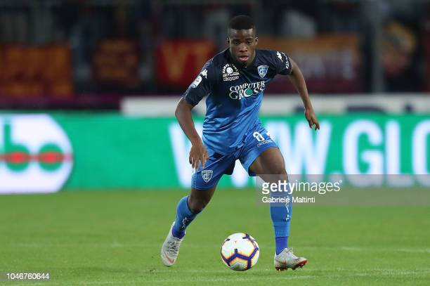 Hamed Junior Traore' of Empoli FC in action during the Serie A match between Empoli and AS Roma at Stadio Carlo Castellani on October 6 2018 in...