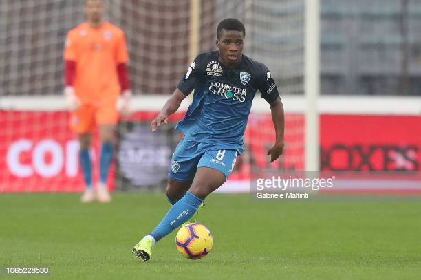 Hamed Junior Traore' of Empoli FC in action during the Serie A match between Empoli and Atalanta BC at Stadio Carlo Castellani on November 25 2018 in...