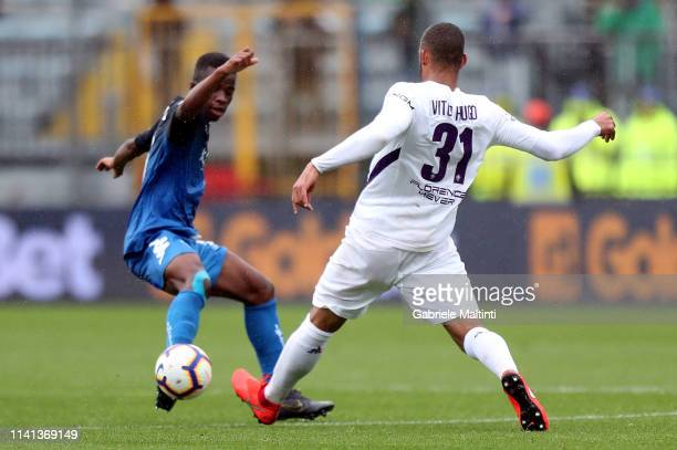 Hamed Junior Traore' of Empoli FC in action during the Serie A match between Empoli and ACF Fiorentina at Stadio Carlo Castellani on May 5 2019 in...