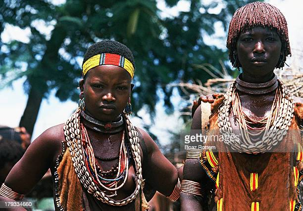 Hamer women visiting a weekly market. Photo taken in the Lower Omo Valley, Ethiopia.
