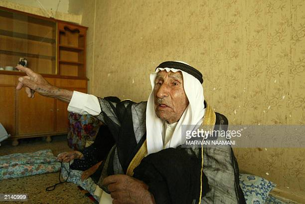 Hamid father of Abid Hamid Mahmud the most trusted lieutenant of toppled leader Saddam Hussein describes 19 June 2003 at his home in the town of...
