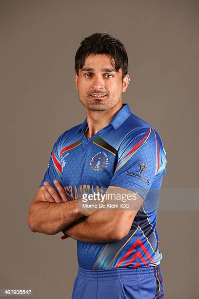 Hamid Hassan poses during the Afghanistan 2015 ICC Cricket World Cup Headshots Session at the Intercontinental on February 7 2015 in Adelaide...