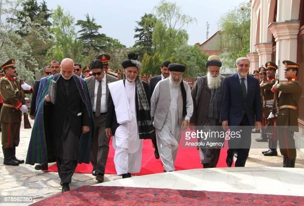 Hamid Karzai former Afghan president Afghan President Ashraf Ghani Gulbuddin Hekmatyar leader of the Hezbe Islami Party Afghan former Mujahideen...