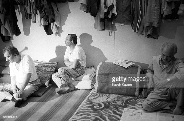 Hamid Reza Pahlavi brother of the deposed Shah of Iran sits in his cell in Evin Prison Tehran 10th February 1986 He was arrested after the revolution...