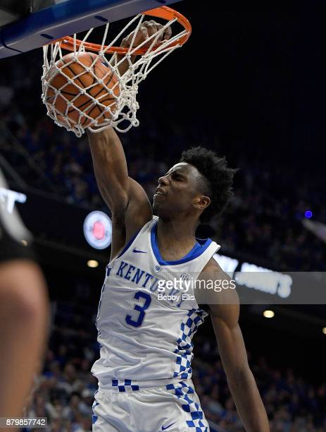 Hamidou Diallo of the Kentucky Wildcats dunks the ball during the first half of the game between the Kentucky Wildcats and the IllinoisChicago Flames...