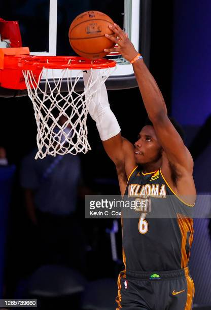 Hamidou Diallo of the Oklahoma City Thunder dunks against the Miami Heat during the second quarter at Visa Athletic Center at ESPN Wide World Of...