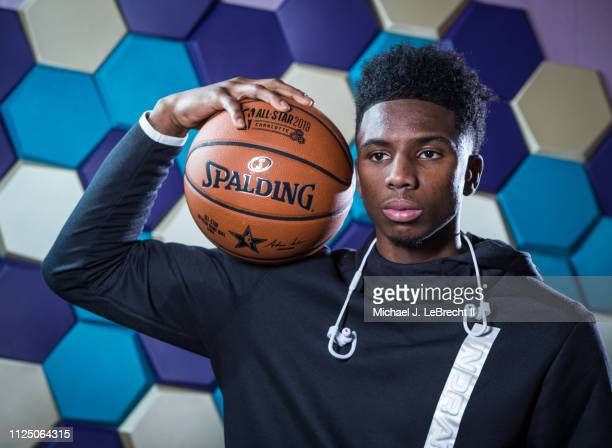 Hamidou Diallo of the Oklahoma City Thunder poses for a portrait during the 2019 NBA AllStar circuit on February 15 2019 at the Sheraton Hotel in...
