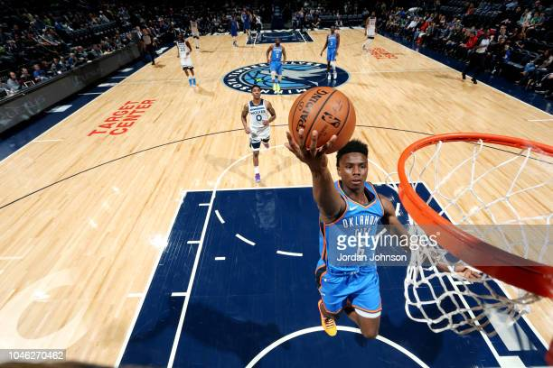 Hamidou Diallo of the Oklahoma City Thunder shoots the ball against the the Minnesota Timberwolves during a preseason game on October 5 2018 at...