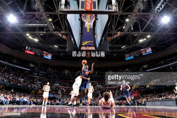 Hamidou Diallo of the Oklahoma City Thunder shoots the ball against the Cleveland Cavaliers on November 7 2018 at Quicken Loans Arena in Cleveland...