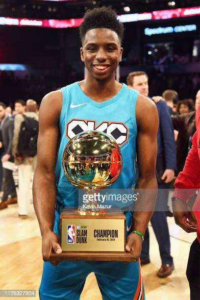 Hamidou Diallo wins the ATT Slam Dunk during the 2019 State Farm AllStar Saturday Night at Spectrum Center on February 16 2019 in Charlotte North...