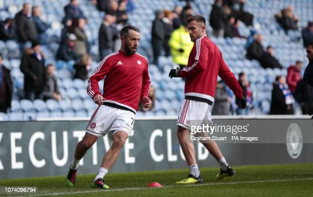 Hamilton Academical's Dougie Imrie warms up before the Ladbrokes Scottish Premiership match at Ibrox Stadium Glasgow