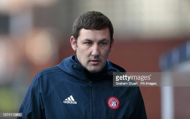 Hamilton Academical's manager Martin Canning looks on against Rangers during the Ladbrokes Scottish Premiership match at Ibrox Stadium Glasgow