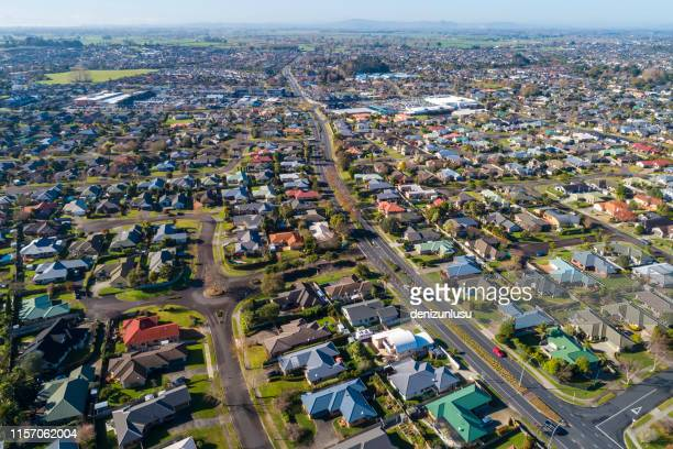 hamilton aerial view - hamilton new zealand stock pictures, royalty-free photos & images
