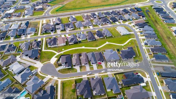 hamilton aerial view - housing development stock pictures, royalty-free photos & images