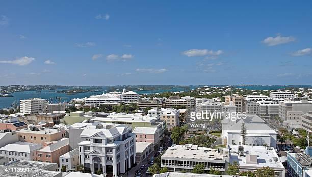 hamilton, bermuda, city view - atlantic islands stock pictures, royalty-free photos & images